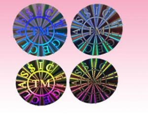 China custom round hologram sticker holographic sticker label for sale manufacturer on sale