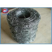 China Roll Galvanized Barbed Wire For Agriculture / Animal Husbandry 12.5x14.5 Gauge on sale