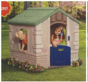China Cozy Log Cabin Cubby House Furniture Design for Kids Play Games on sale