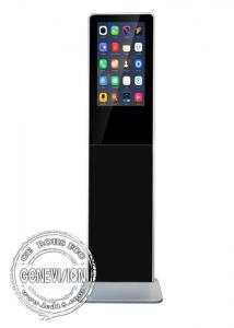 China Slim 21.5 Inch Digital Advertising Screens Android Remote Control LCD Advertising Totem Battery Powered on sale