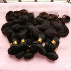 China 6A brazilian virgin hair body wave 6-30inches natural black 100% human hair brazilian hair weave on sale