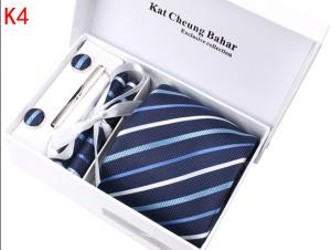 China wholesale silk ties custom ties fashion men necktie sets with tie box on sale