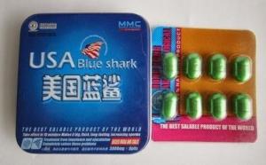 China USA Blue Shark Sex Enhancement Pills Long Lasting Effective 3800mg * 8 Capsules on sale