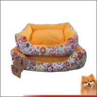 China Washable Dog Bed Canvas fabric dog beds with flower printed China manufacturer on sale