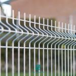 1830mm Height Metal Mesh Fence Panels / Steel Mesh Fencing Panels Silver Color