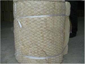 China Roofing thermal insulation material rock wool blanket with wire mesh on sale