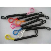 China Stretchable Black Spring Key Coil Clips Colorful Blub Plastic Hook and Snap Hook on sale