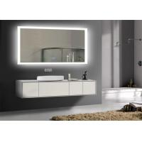 China Rectangle Frameless Mirror TV With LED Light Clock , Smart Mirror TV For Hotel on sale