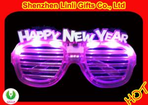 China Assorted colors LED flasing toys window-blinds lighted glasses for new year,bar FA12091A on sale