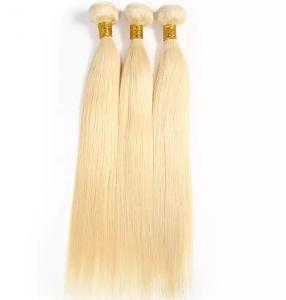 China Straight Brazilian Hair Weave Blonde 100 Human Hair Extensions Full Bottom on sale
