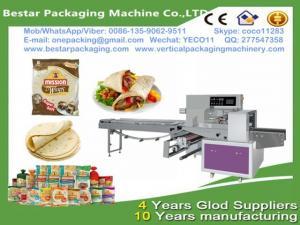 China Bestar easy operation papadam horizontal packing machine,papadam flow pack with nitrogen making machine on sale