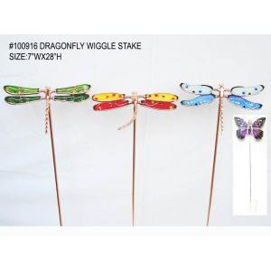 China Dragonfly antique design Decorative Garden Stakes for lawn decor  on sale