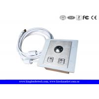 Panel Mounted Stainless Steel Trackball with Diameter 25mm,Left&Right Click Buttons