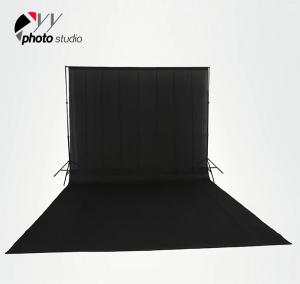 China Black Muslin Photography Backdrop on sale