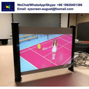 China Mini Projection Screen for Outdoor 35 40 Manual Table Projector Screen on sale
