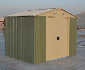 Small Zinc Steel Powder Coated Apex Metal Shed For Tools Storage