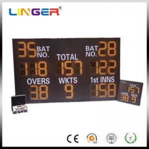 China Mini Type Lightweight LED Electronic Scoreboard , Cricket Digital Scoreboard Wireless Control on sale