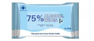 China Antibacterial Disposable Alcohol Wet Wipes Cotton Pad Biodegradable on sale