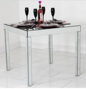 Full Mirror Glass Dining Table Silver Square Mirror Top Dining - Silver mirrored dining table