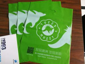 China Colour Blow Ldpe Hdpe Plastic Shopping Bag Customized For Clothes Packaging on sale