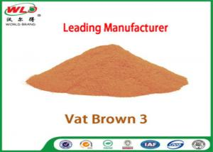 China Eco Friendly Fabric Dye C I Vat Brown 3 Brown RN Dyeing Of Cotton Fabric on sale