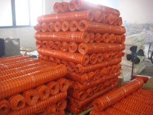 China Heavy Duty HDPE Plastic Safety Fence Block Off Property Lines / Unfinished Buildings on sale
