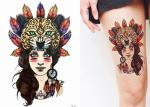 Different Patterns Realistic Body Art Fake Tattoo Stickers Water Transfer Non Permanent