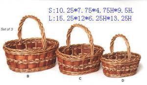 China handmade wicker basket, handicrafts baskets. on sale