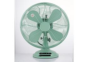 China Plastic Decorative Vintage Look Table Fan 12 Inch Oscillating Classic For Home on sale