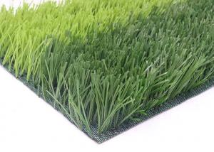 China Mud - free And Safe Artificial Football Turf Diamond Plus Stem Yarn Shaped on sale