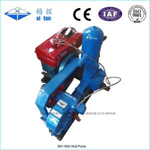 China Double Acting Hydraulic Cylinder Drilling Mud Pump For Geological Exploration BW - 160 on sale