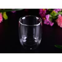 Superior 220ml Hot Double Wall Drinking Glasses LFGB CA65 FDA Certification
