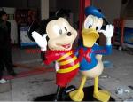resin Mickey Mouse and Donald Duck figurine