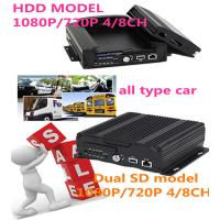 3G 4G Wifi GPS 4CH SD Card HDD  HD Mobile DVR With sim card for Car Security