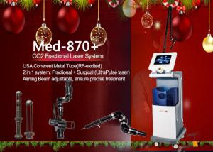 China USA Coherent Metal Tube CO2 Fractional Laser Scare Removal Skin Resurfacing Device on sale