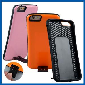 China Dual Layer Plastic Iphone 6 Protective Cases Combo With Kickstand on sale