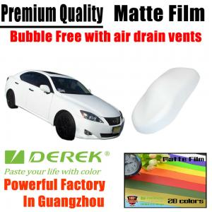 China Matte Car Wraps Vinyl Film - Matte White Car Wrapping Film on sale