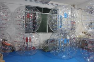 China 0.8mm PVC 1.5 m diameter body zorb inflatable bubble soccer CE on sale