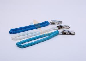 China Plastic EVA Coil Tool Lanyard Dental Stretchy Coiled Cord 2*8*300MM With Crocodile Clip on sale