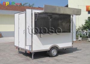 China Stable Snack Mobile Cooking Trailer Non - Slip Flooring For Tourism Spots on sale