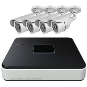 China magnétoscopes en temps réel de la résolution DVR HDMI de 4ch D1 avec l'appareil-photo de balle de 4 IR et les kits nécessaires on sale