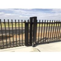 2100mm*2400mm security garrison fencing panels rail 40mm*40mm x 1.60mm thick flat square top