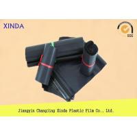 Black Printed Plastic Mailing Imprinted Postage Durable Bags Puncture Resistant
