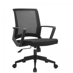 China Modern Ergonomic Conference Furniture Mid Back Manager Fabric Mesh Swivel Visitor Chairs on sale
