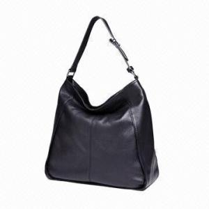China Black Portable Womens Leather Tote Bags Handbag Winter / Autumn Everyday Use on sale