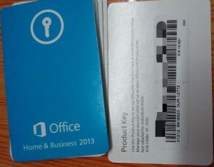China Home And Business Office 2013 Retail Box Full Version With Product Key Card on sale