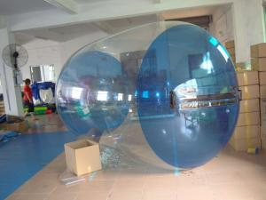 China Blue Transparent Inflatable Water Roller Balls for Kids Inflatable Pool on sale