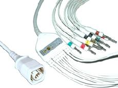 China One-piece Series EKG Cable with Leads  for Zoll Monitor on sale