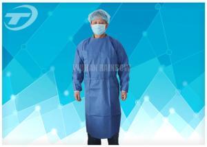 China El agua PP resistentes disponible friega los trajes/los vestidos del aislamiento con los puños hechos punto on sale