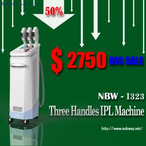 China Bottom Prices from NUBWAY! 50% discounts! 3 handles best IPL skin care device manufacture on sale